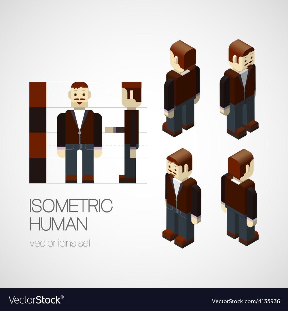 Isometric human set vector   Price: 1 Credit (USD $1)