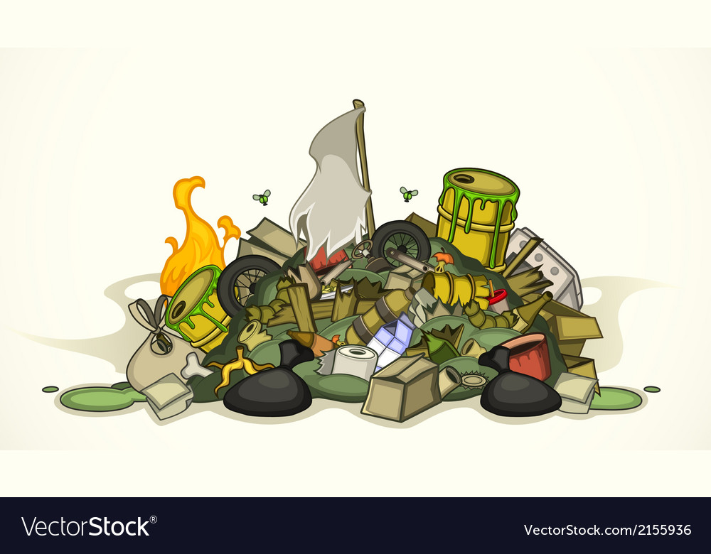 Pile of various garbage vector | Price: 3 Credit (USD $3)