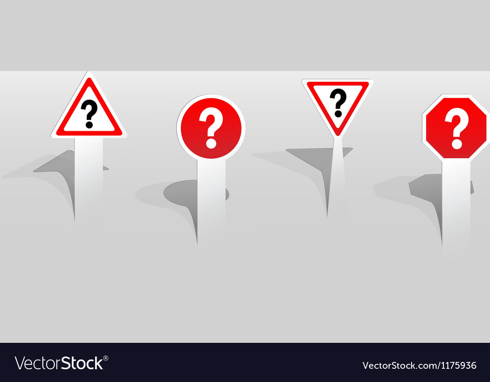 Question mark signs vector | Price: 1 Credit (USD $1)