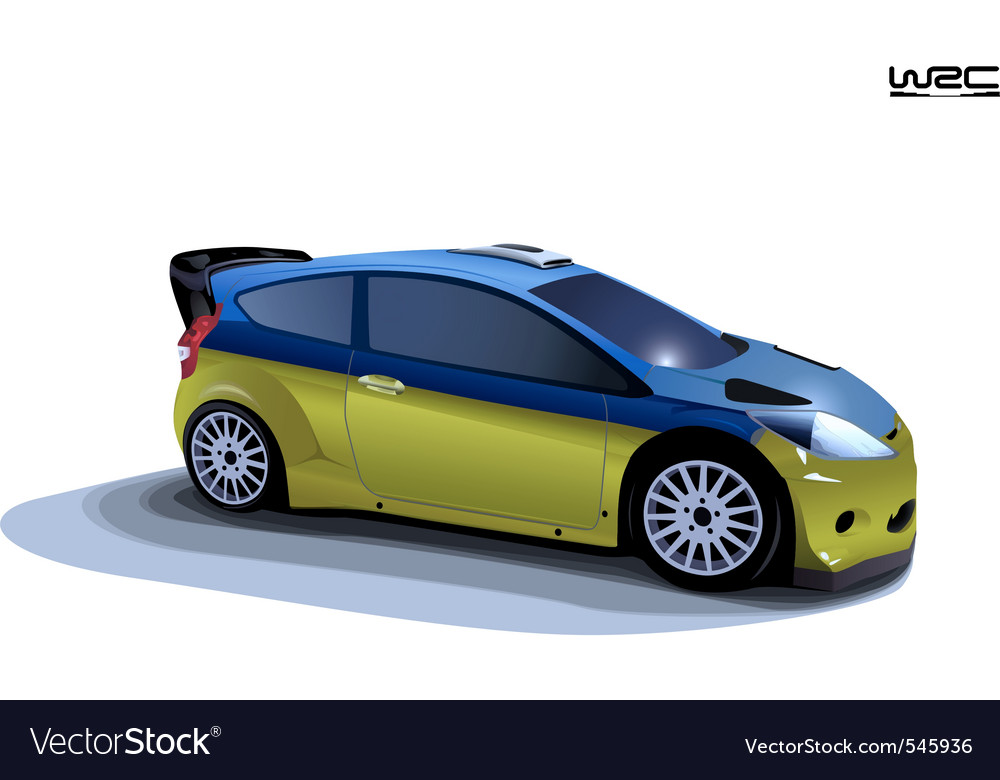 Rally sport car vector | Price: 1 Credit (USD $1)