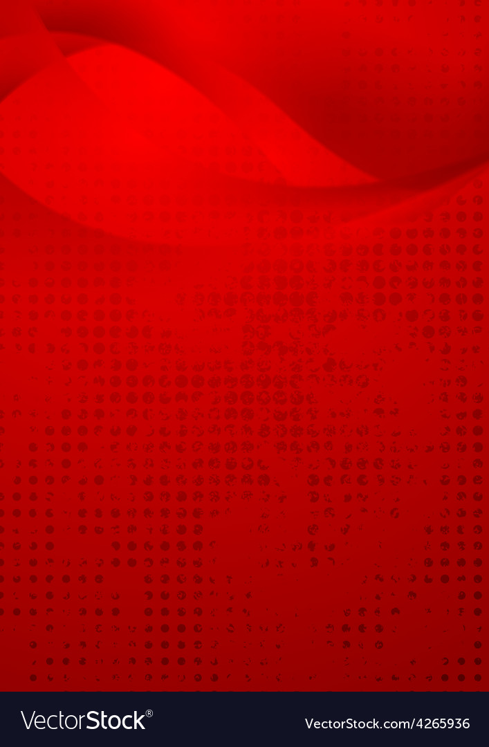 Red wavy grunge background vector | Price: 1 Credit (USD $1)