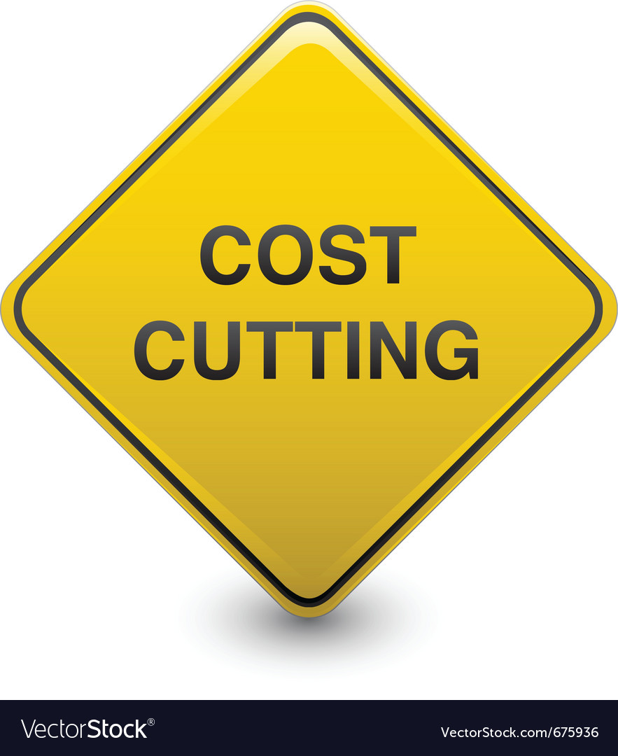 Road sign - cost cutting vector | Price: 1 Credit (USD $1)