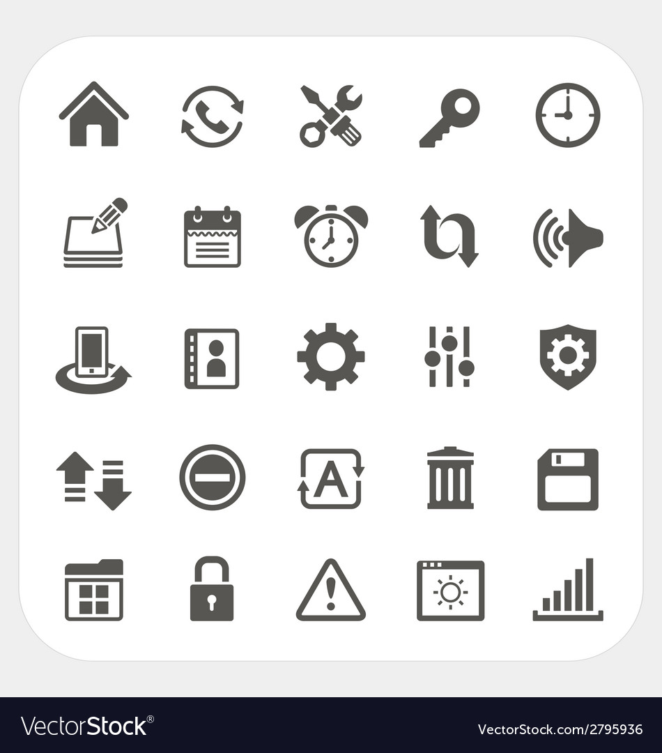 Setting icons set vector | Price: 1 Credit (USD $1)