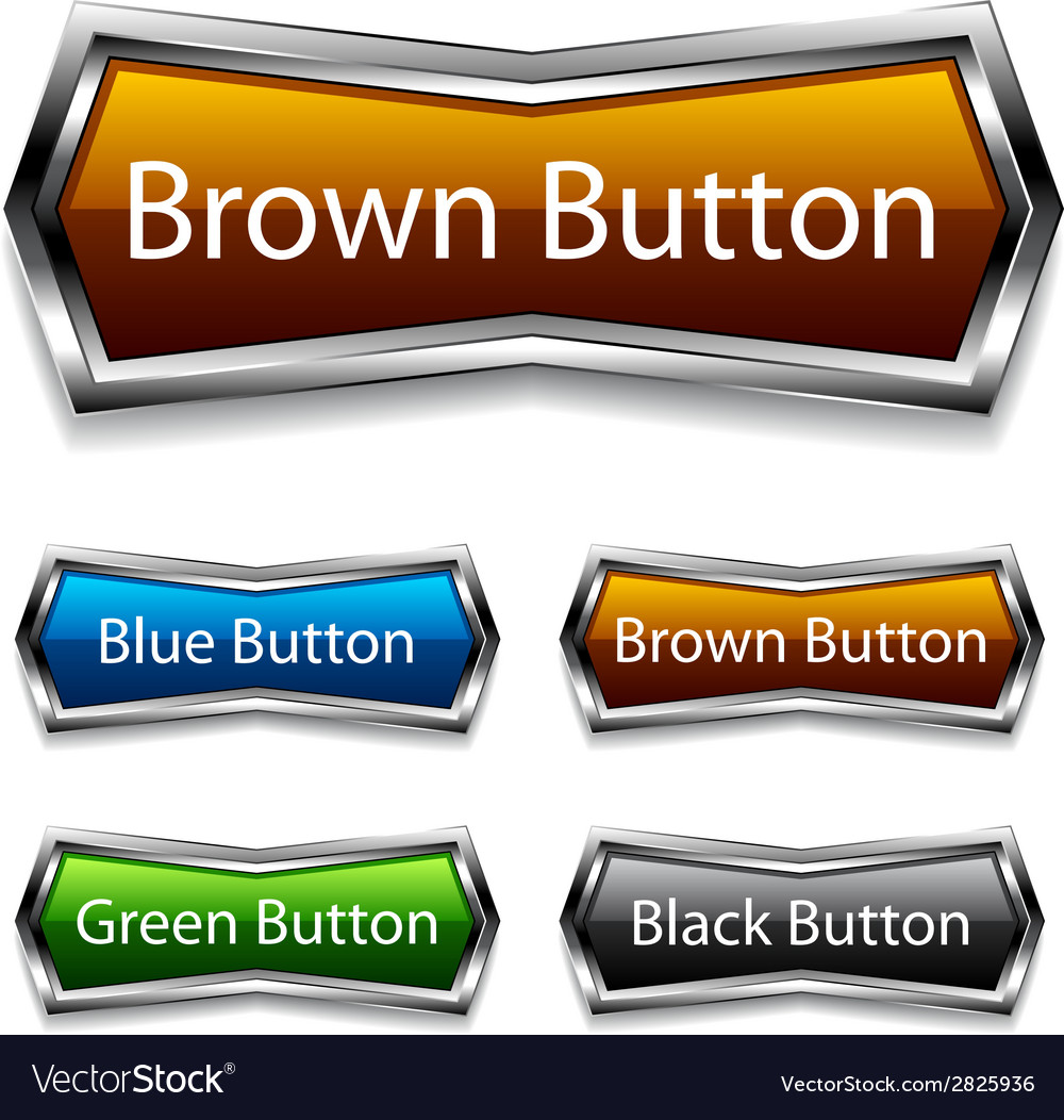Shiny chrome web buttons vector | Price: 1 Credit (USD $1)