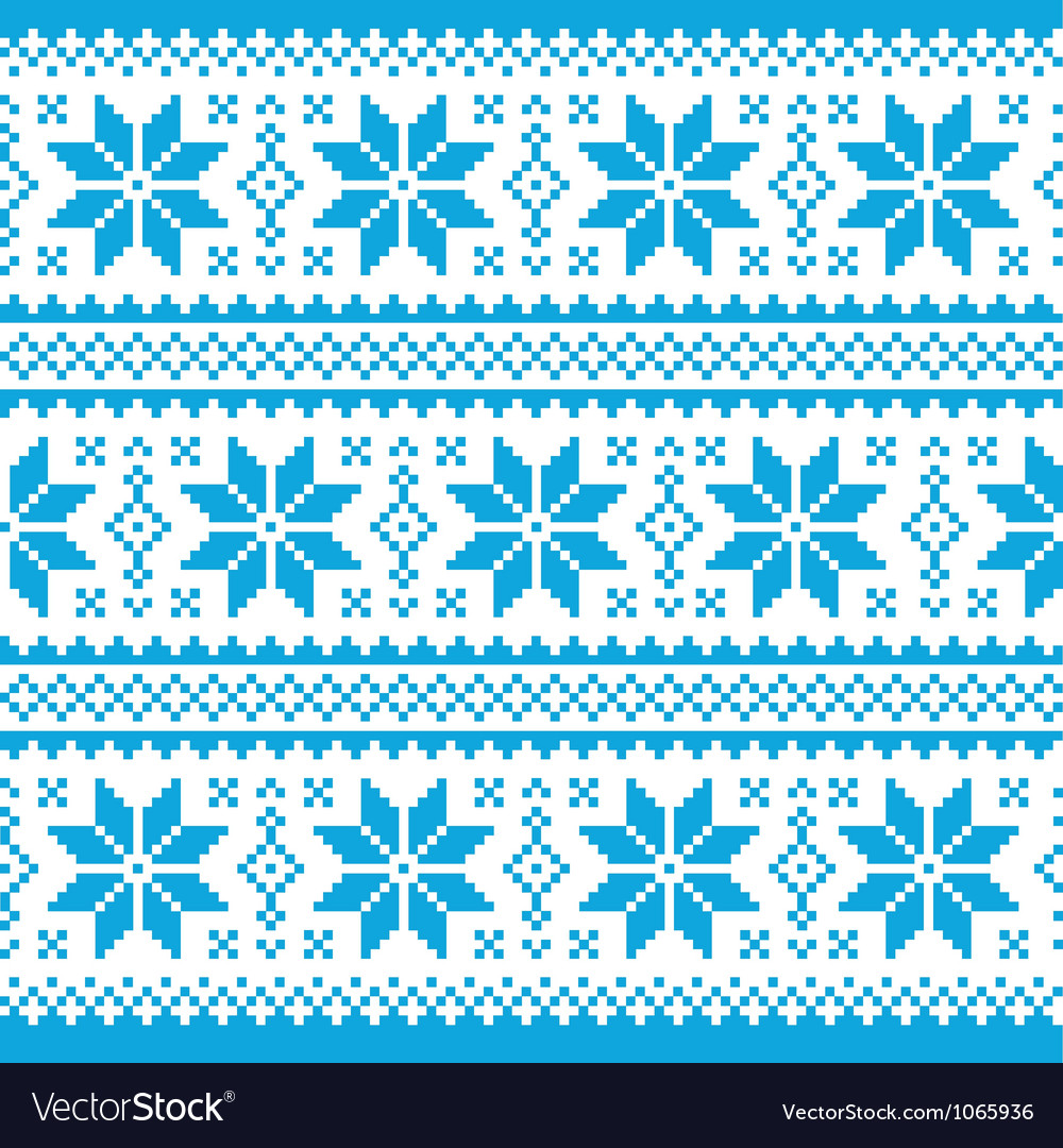 Traditional ornamental christmas knitted pattern vector | Price: 1 Credit (USD $1)