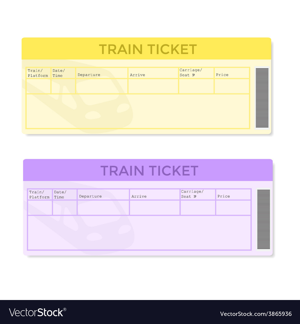 Train tickets in two color versions vector | Price: 1 Credit (USD $1)
