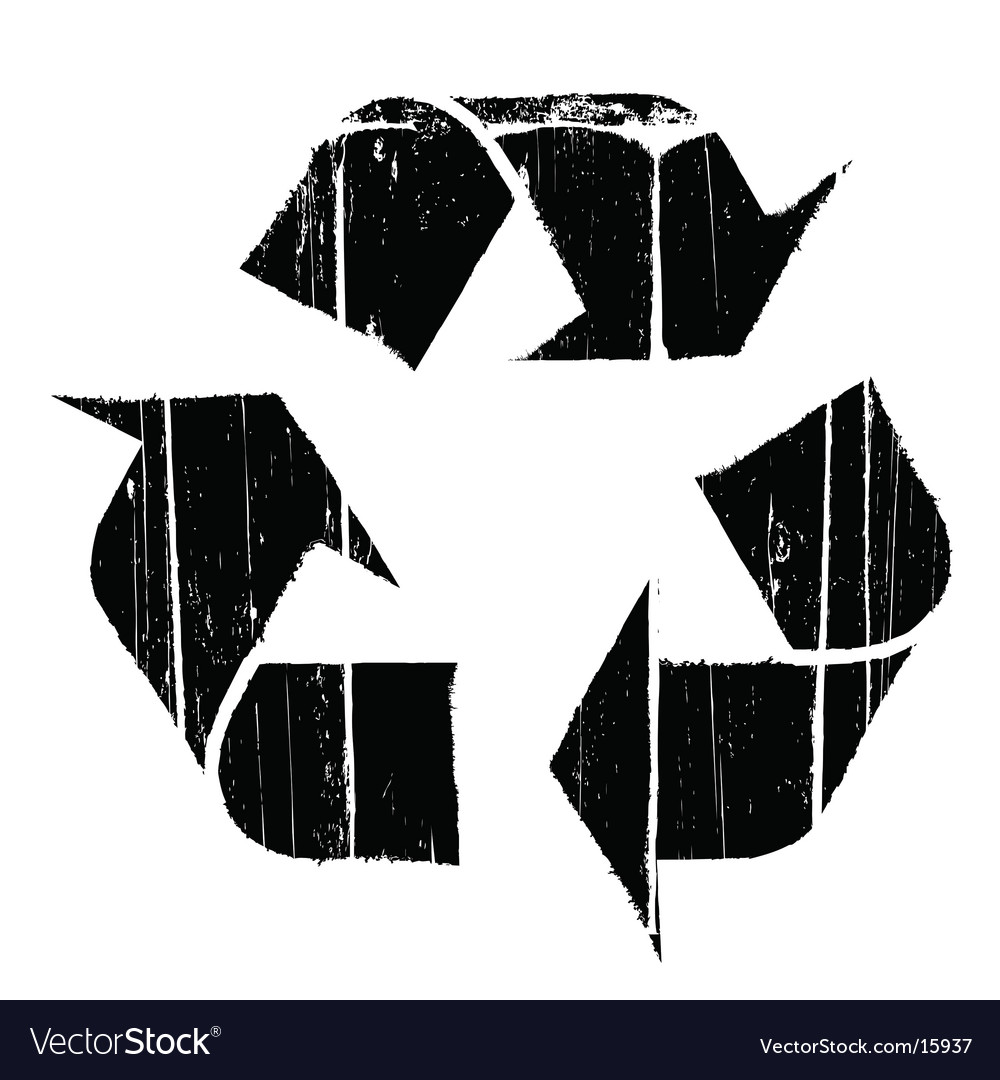 Aged old recycle symbol texture vector | Price: 1 Credit (USD $1)