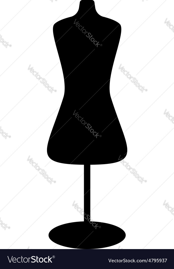 Black mannequin icon vector | Price: 1 Credit (USD $1)