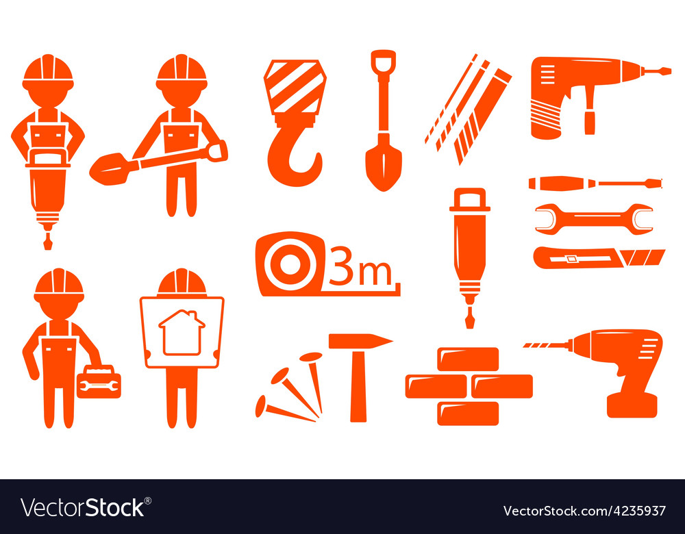 Construction industry set vector | Price: 1 Credit (USD $1)