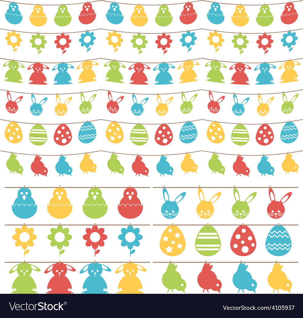 Easter bunting vector | Price: 1 Credit (USD $1)