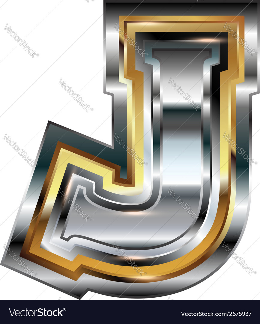 Fancy font letter j vector | Price: 1 Credit (USD $1)