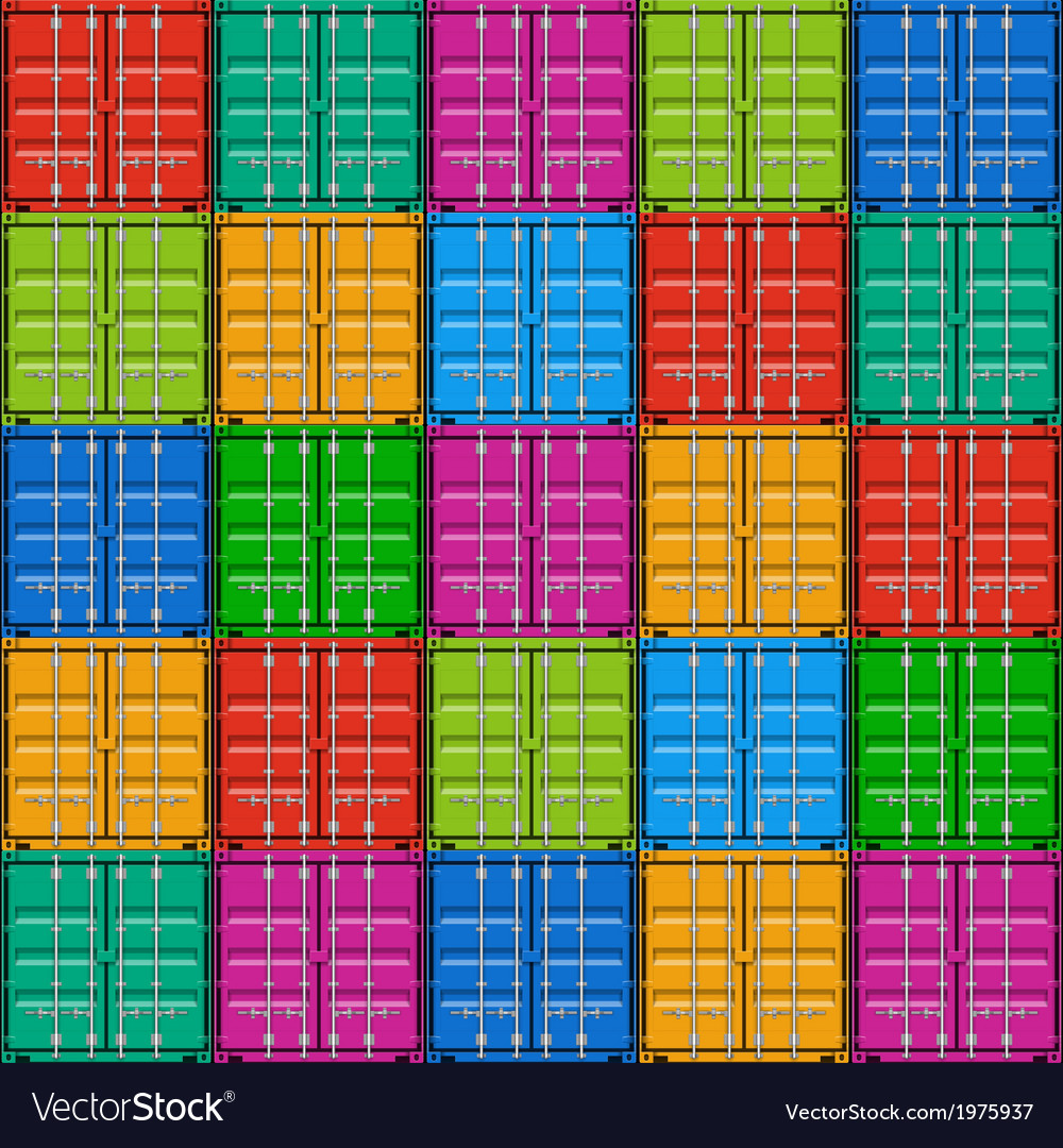 Freight shipping stacked seamless cargo container vector | Price: 1 Credit (USD $1)