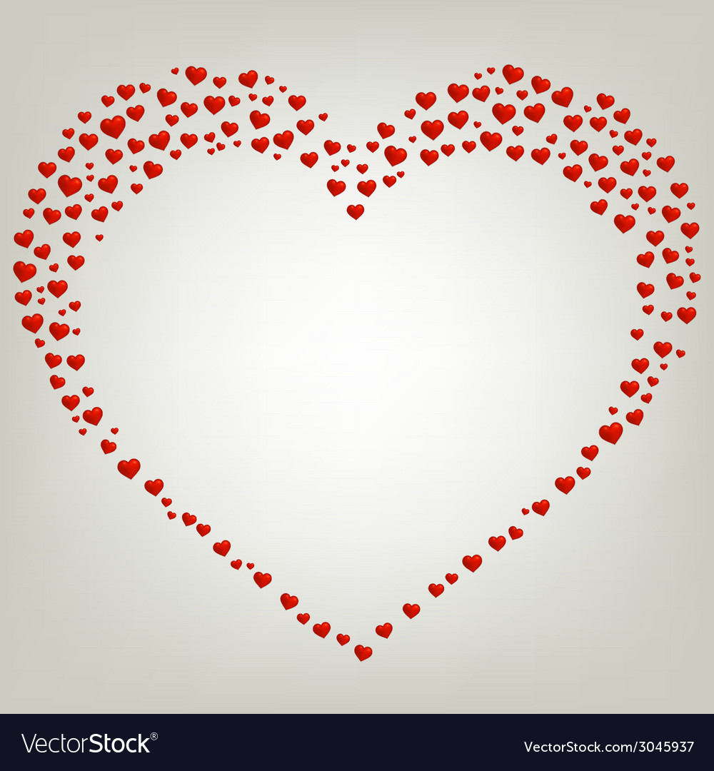 Heart valentines day card frame vector | Price: 1 Credit (USD $1)