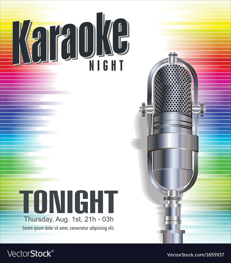 Karaoke colorful background vector | Price: 1 Credit (USD $1)
