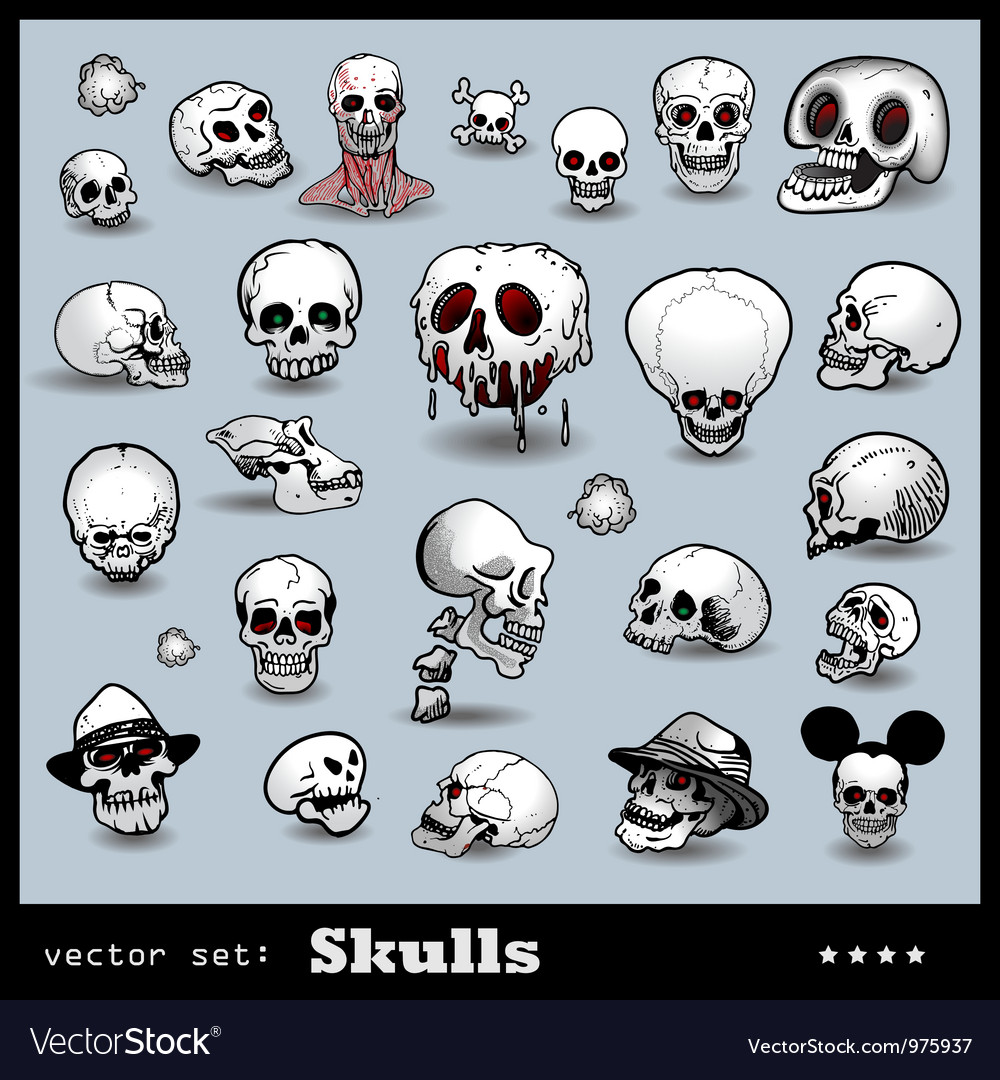 Scull collection vector | Price: 3 Credit (USD $3)