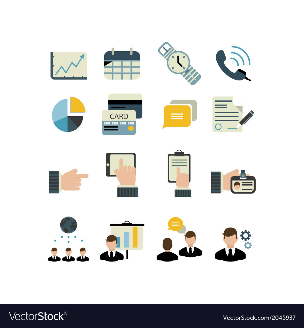 Set of businnes icons vector | Price: 1 Credit (USD $1)