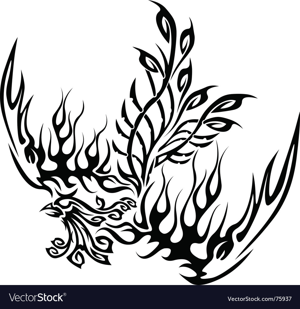 Tattoo with phoenix vector | Price: 1 Credit (USD $1)