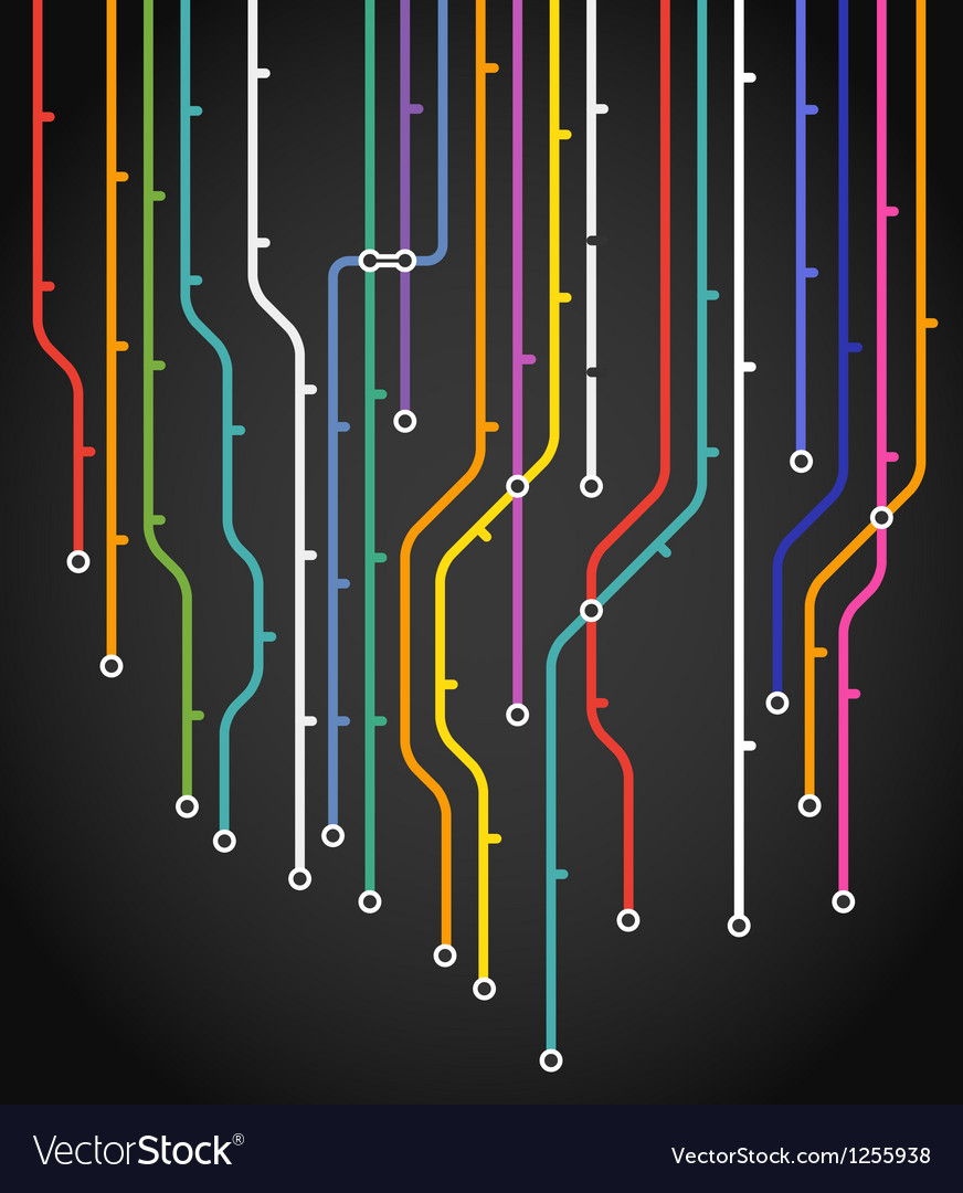 Abstract metro scheme background vector