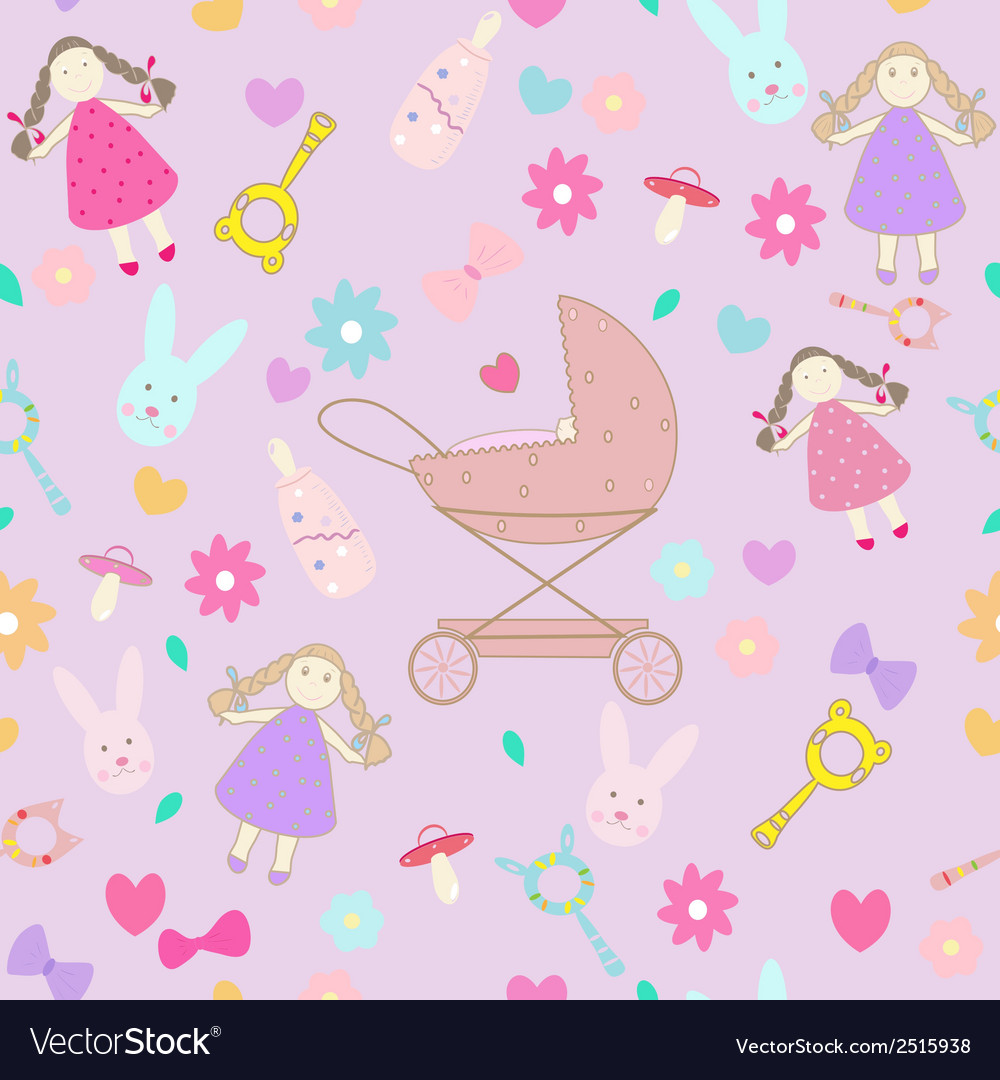 Baby girl texture layette pattern vector | Price: 1 Credit (USD $1)