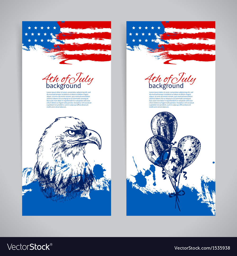 Banners of 4th july backgrounds vector | Price: 1 Credit (USD $1)