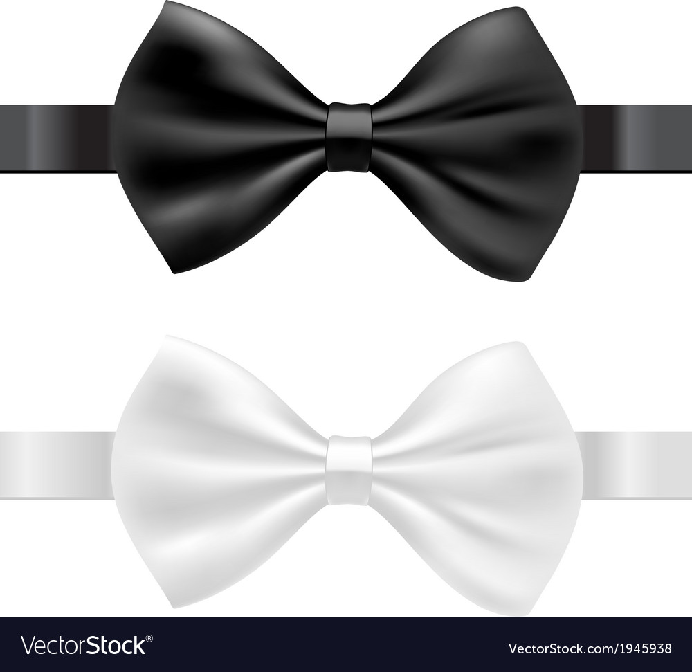 Black and white bow tie vector | Price: 1 Credit (USD $1)