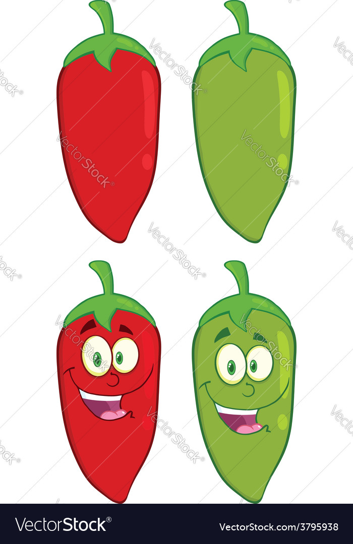 Cartoon hot chilli design vector | Price: 1 Credit (USD $1)