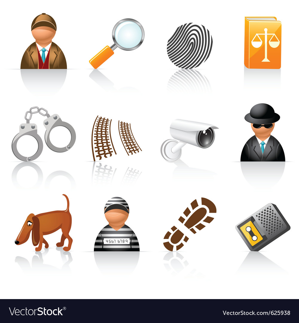 Detective agency icons vector | Price: 1 Credit (USD $1)
