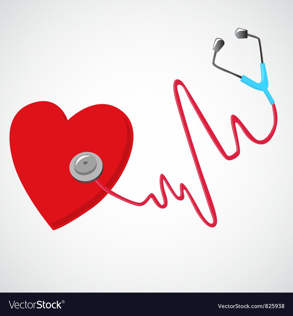 Heart and a stethoscope vector | Price: 3 Credit (USD $3)