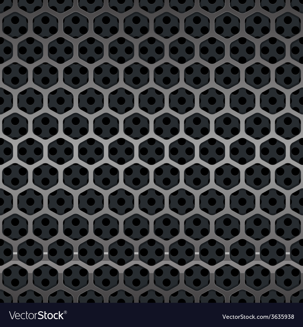 Hexagon metal grill seamless background vector | Price: 1 Credit (USD $1)