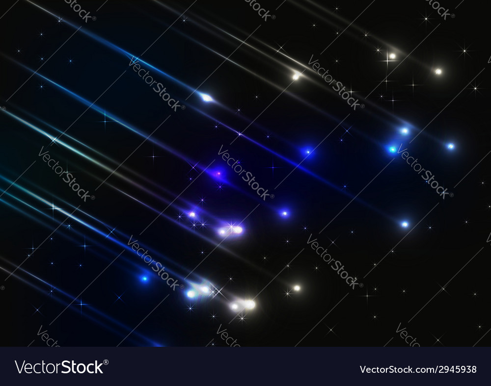 Meteor shower in space vector | Price: 1 Credit (USD $1)