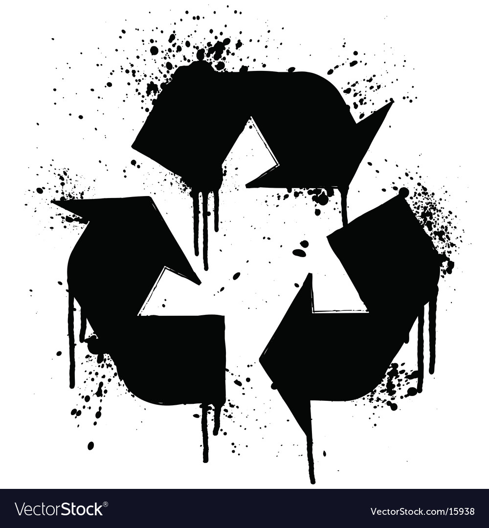 Recycle grunge symbol vector | Price: 1 Credit (USD $1)