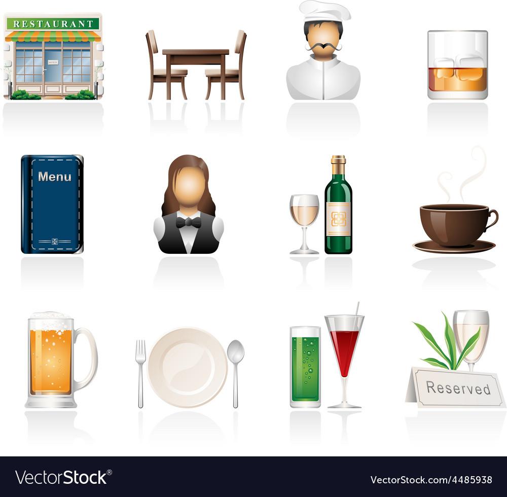 Restaurant icon set vector | Price: 3 Credit (USD $3)