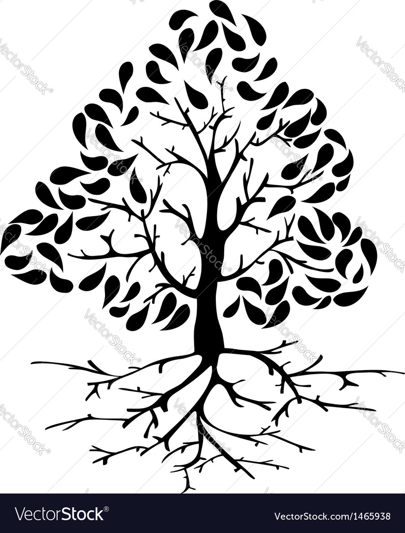 Tree icon silhouette vector | Price: 1 Credit (USD $1)