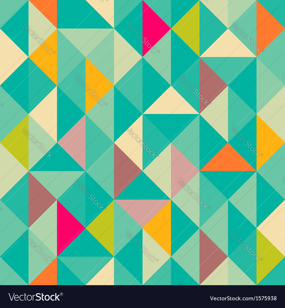 Triangles seamless pattern vector | Price: 1 Credit (USD $1)