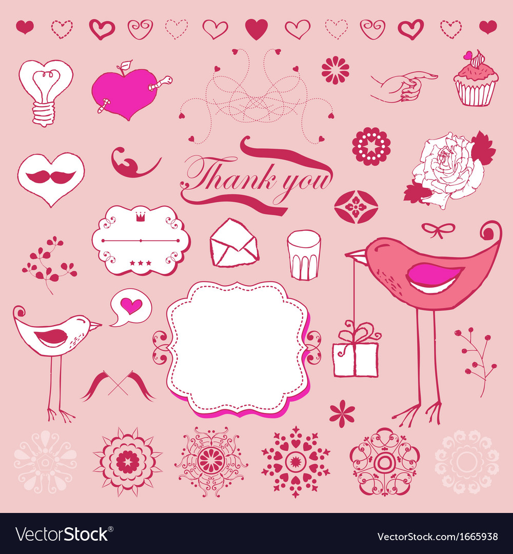 Valentines elements vector | Price: 1 Credit (USD $1)