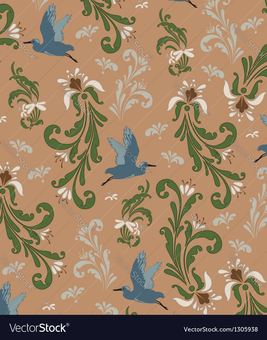 Vintage background pattern vector | Price: 1 Credit (USD $1)