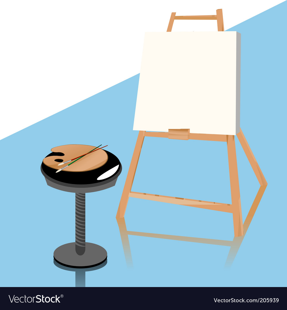 Art easel vector | Price: 3 Credit (USD $3)