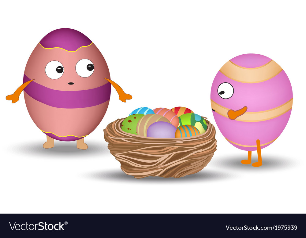 Eggs in the nest vector | Price: 1 Credit (USD $1)