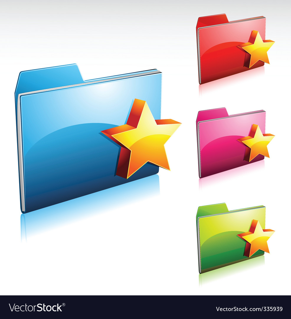 Folder icon vector | Price: 3 Credit (USD $3)