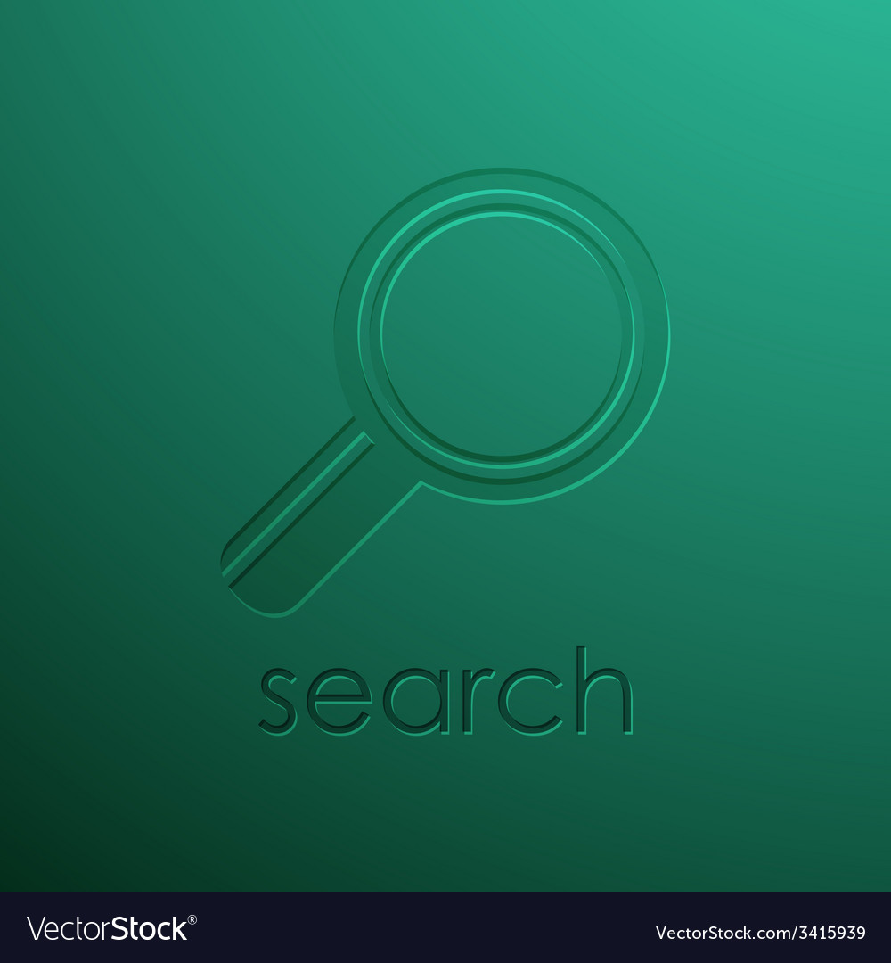 Green background with magnifying glass vector | Price: 1 Credit (USD $1)