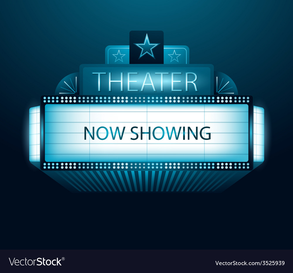 Now showing movie theater banner vector | Price: 1 Credit (USD $1)