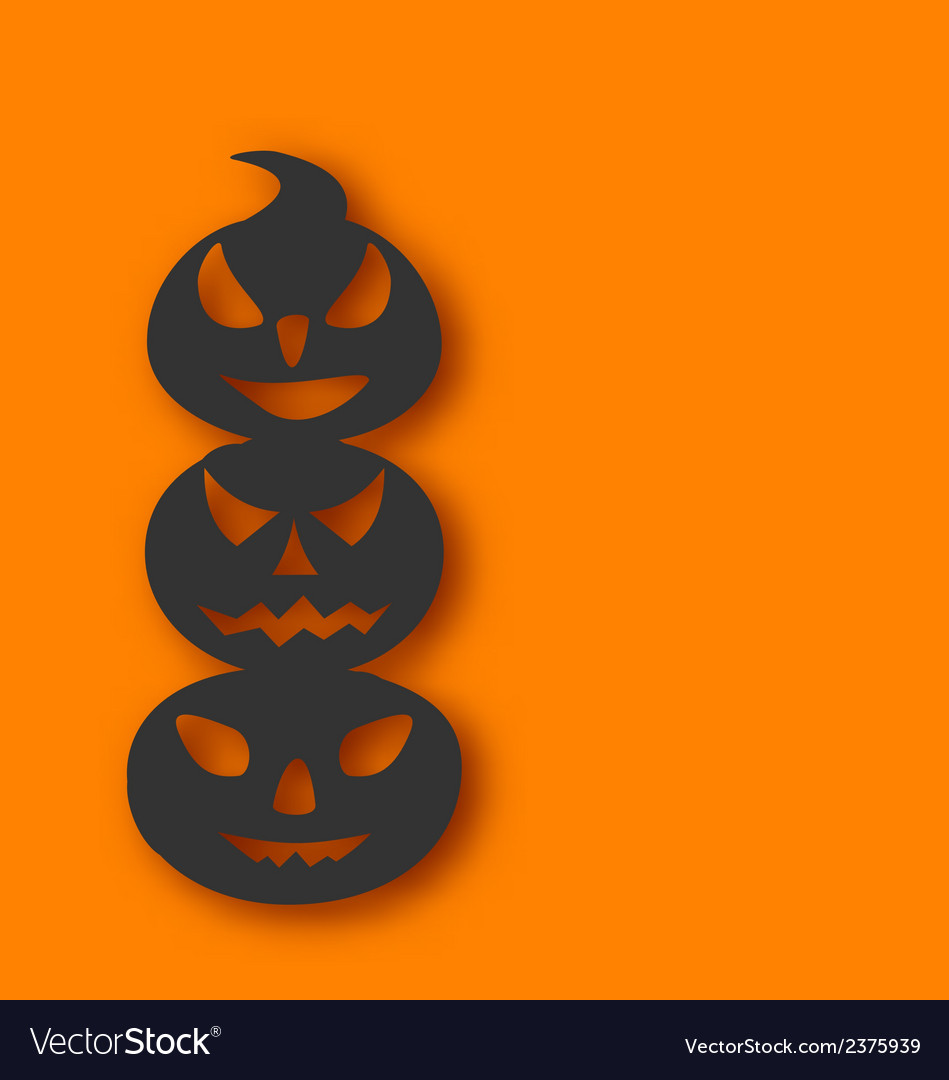 Pumpkins with an evil expression on faces vector | Price: 1 Credit (USD $1)