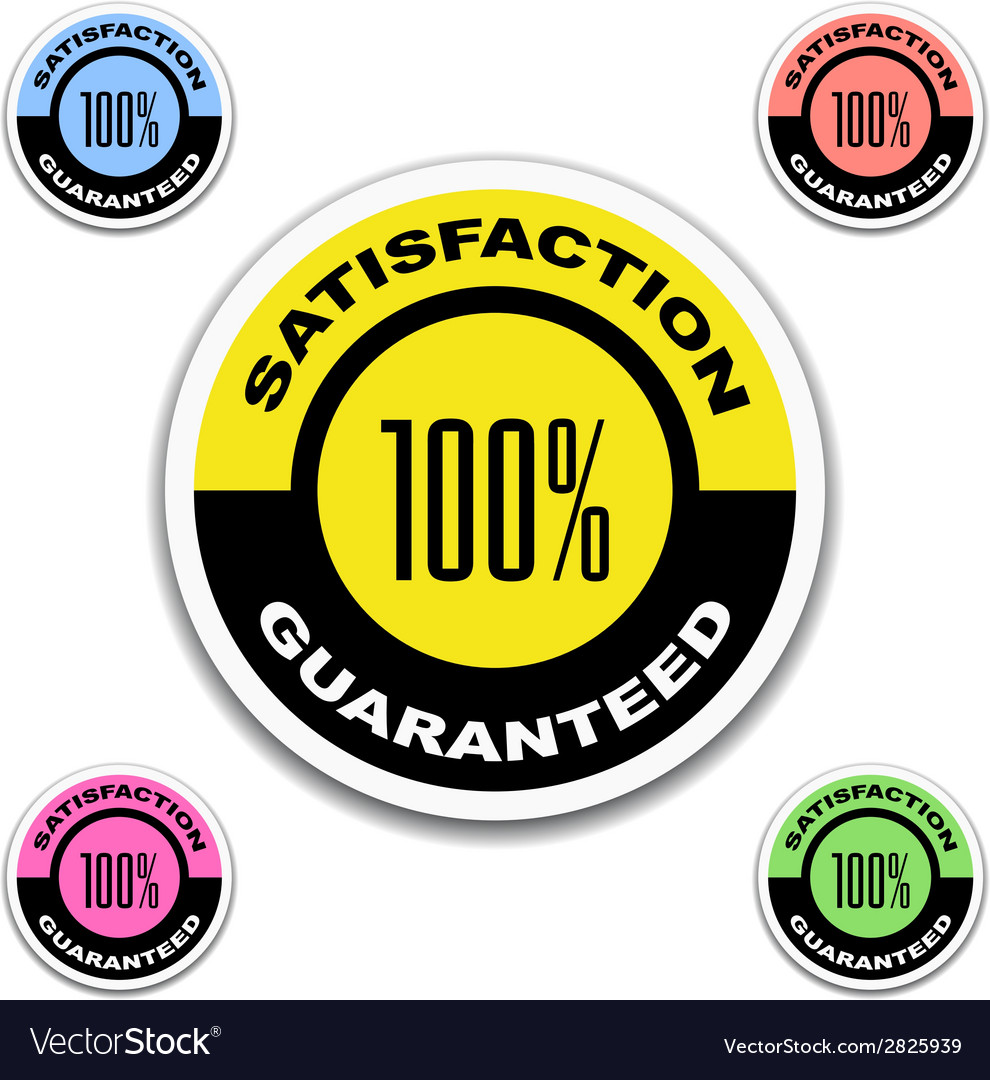 Satisfaction guaranteed stickers vector | Price: 1 Credit (USD $1)