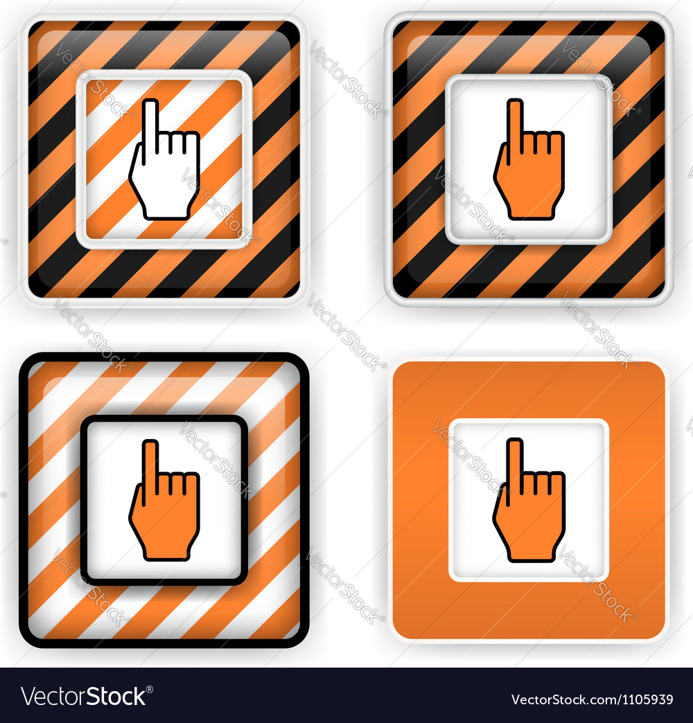 Warning or pointing signs vector | Price: 1 Credit (USD $1)