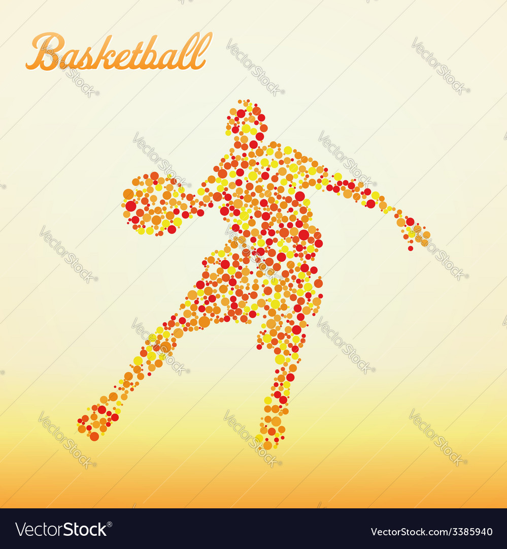 Abstract basketball player vector   Price: 1 Credit (USD $1)