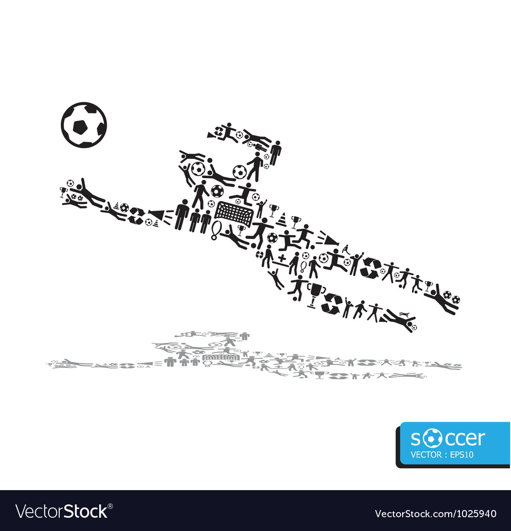 Active soccer player shape concept vector | Price: 1 Credit (USD $1)