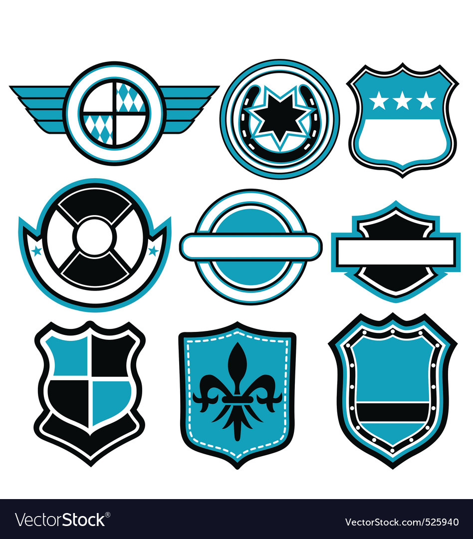 Badge symbol vector | Price: 1 Credit (USD $1)