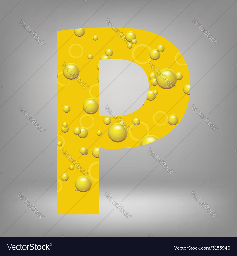 Beer letter p vector | Price: 1 Credit (USD $1)