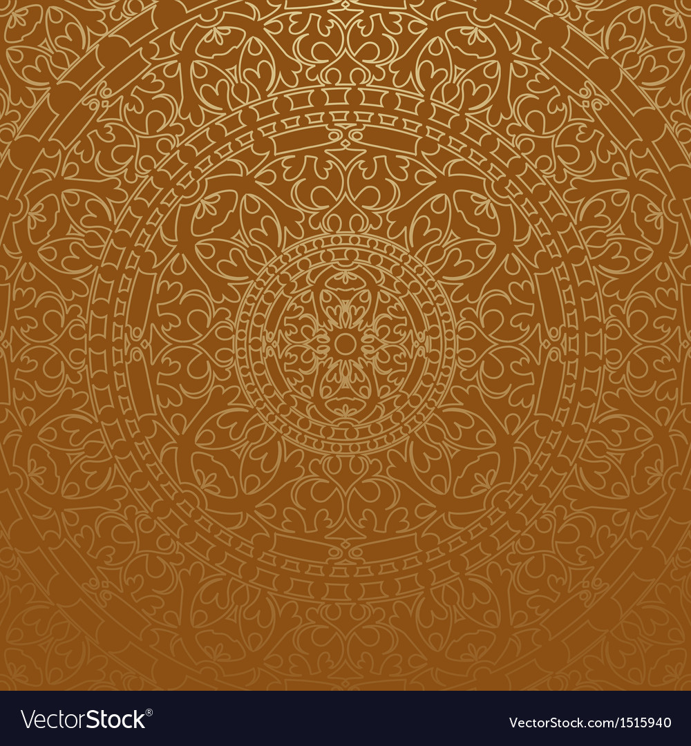 Brown oriental background vector | Price: 1 Credit (USD $1)