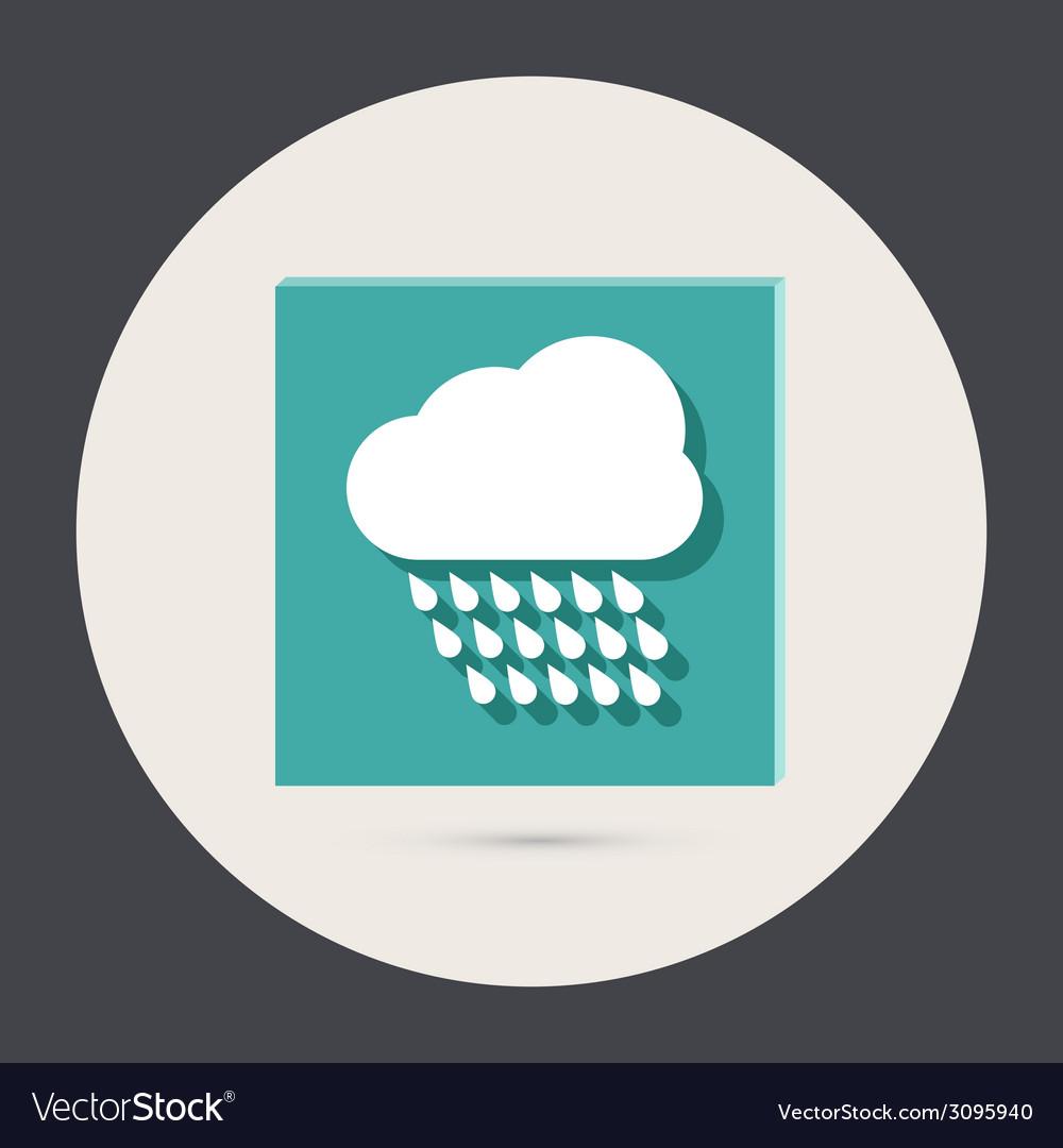Cloud rain the weather icon vector | Price: 1 Credit (USD $1)